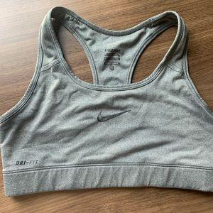Gray Nike drifit sports bra & champion sports bra